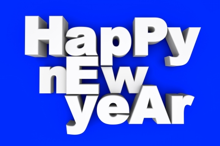 year 3d: Happy new year. 3d illustration.