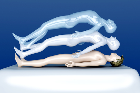 3 d レンダリングされたイラスト。幽体離脱。 写真素材