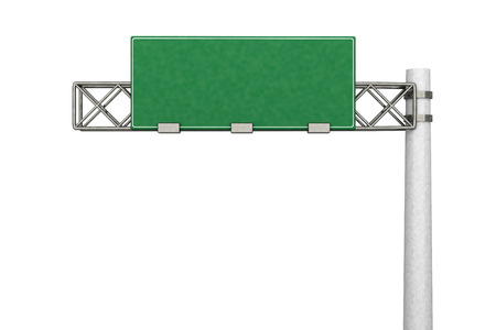 3D rendered Illustration. A empty Highway Sign.