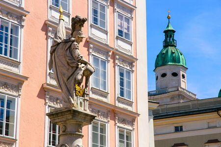 Historic Architecture in Salzburg, Austria, Europe.