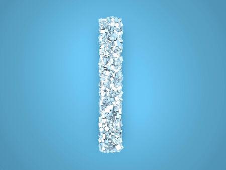 A letter formed out of ice Crystals. 3d illustration. illustration
