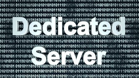 The word server  in front of a binary background symbolizing the digital code of software. Banco de Imagens