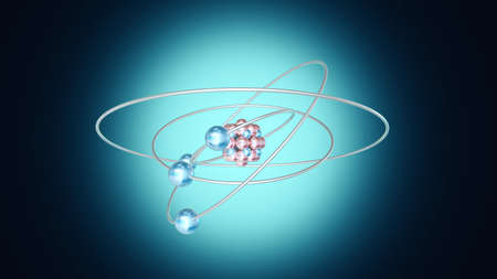 A spinning Atom Stock Photo