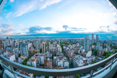 The skyline of Buenos Aires Stock Photo