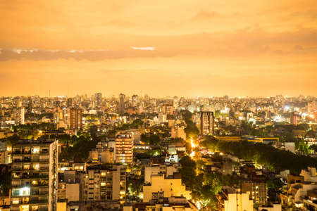Panoramic view of Buenos Aires at night