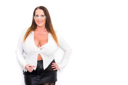 Portrait of a plus size secretary