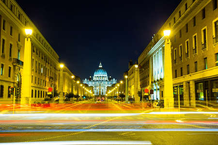 View on traffic passing by at the Vatican in Rome