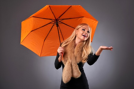 Young woman with an umbrella