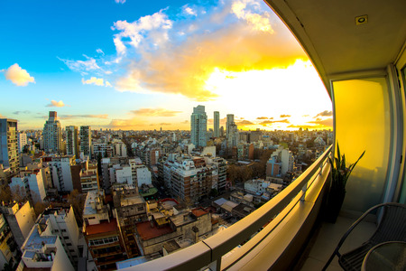 Buenos Aires panorama at dusk