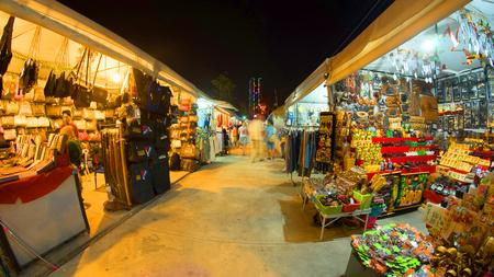 Night market in  Pattaya in Thailand Editorial