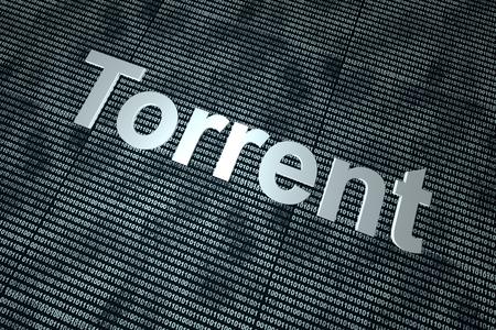 Digital Torrent. 3D rendered background