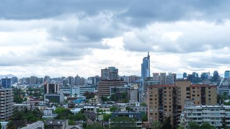 The skyline of Santiago de Chile