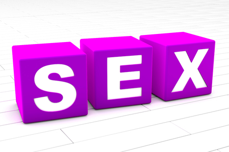 3D rendered illustration of the word Sex. Stock Photo