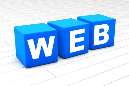 3D rendered illustration of the word Web.