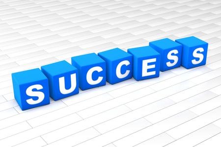 3D rendered illustration of the word Success. Reklamní fotografie