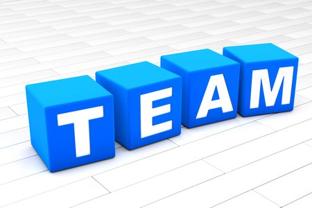 3D rendered illustration of the word Team.
