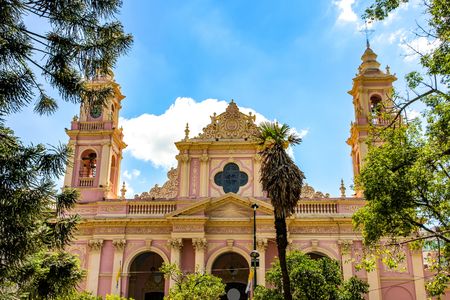 View on the Cathedral Basilica of Salta, Argentina, South America on a sunny day. 写真素材