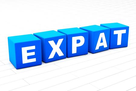 Expat word illustration Stock Photo