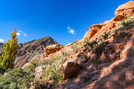 Landscape view of Salta, Argentina, South America on a sunny day. Stock Photo