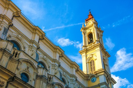 View on a historic church in Torino, Italy on a sunny day.