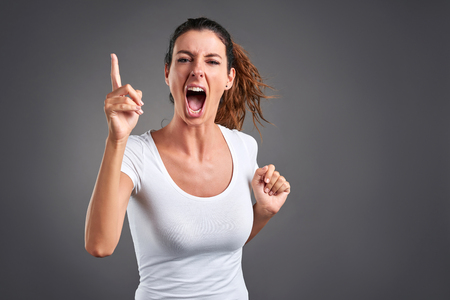 Young woman angry