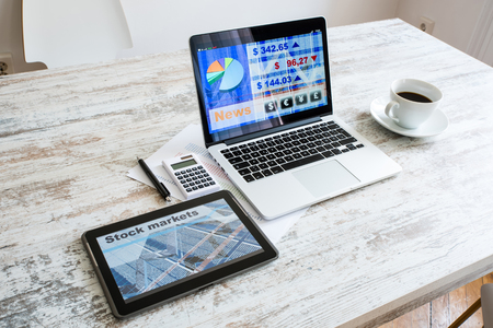 Stock market calculations and trading with a Tablet PC and Lapto