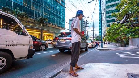 Street scene in Manila, Philippines