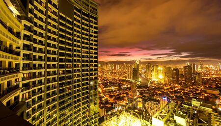 MANILA, PHILIPPINES - CIRCA MARCH 2018: View on the Skyline of Makati circa March, 2018 in Manila, Philippines.