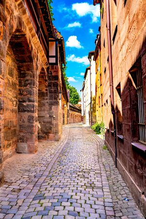 View on historic Architecture in Nuremberg, Germany Banco de Imagens
