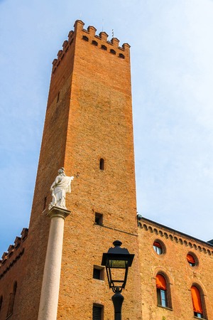 Historic architecture of the Piazza del Duomo in Cremona, Italy on a sunny day. 写真素材