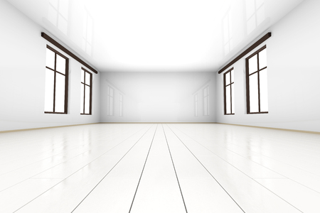 3D rendered Illustration of a empty room.