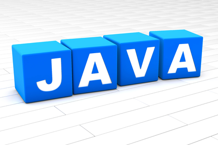 3D rendered illustration of the word Java. Reklamní fotografie