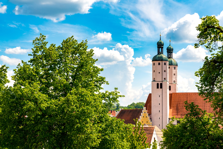 View on the Church Towers in Wemding, Germany
