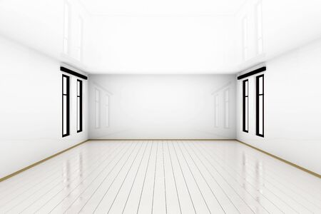 3D rendered Illustration of a empty room. Фото со стока - 134767735