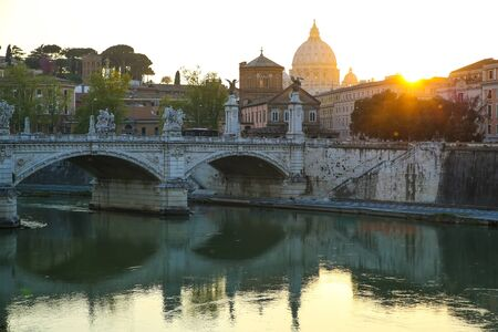 View over the river Tiber and the Vatican in Rome, Italy, Europe.