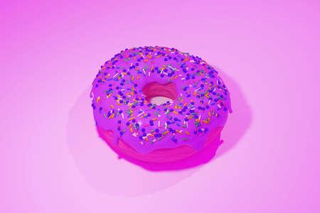 3D Illustration of a Donut. Banque d'images