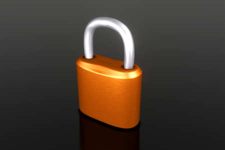 3D Illustration of a closed padlock.