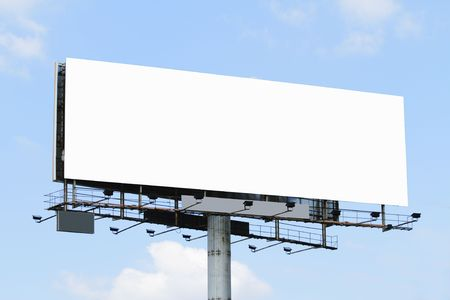 A blank billboard with a blue sky Stock Photo