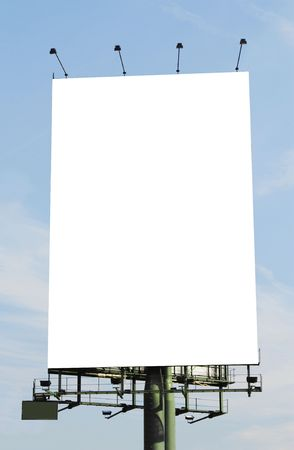A vertical blank billboard Stock Photo