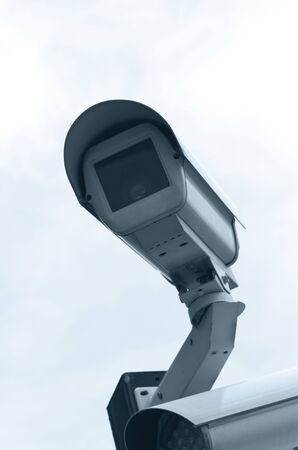CCTV camera mounted outdoors Stock Photo - 6855838