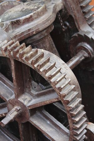 gearing: Gearing in an antique machine