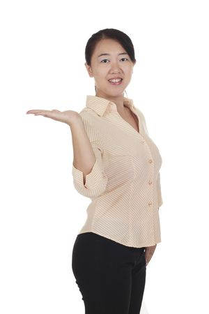 An Asian woman isolated in white background. Stock Photo - 7672744