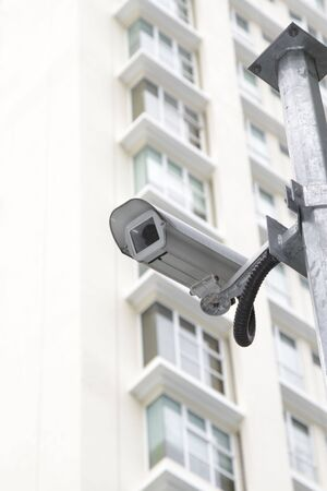 Security camera in front of an apartment building Stock Photo - 8145299