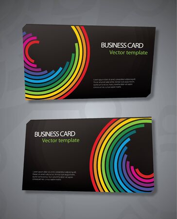 Modern colorful business-card template set for your business Stock Vector - 10797854