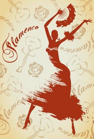 t�nzerinnen: Flamenco M�dchen Illustration