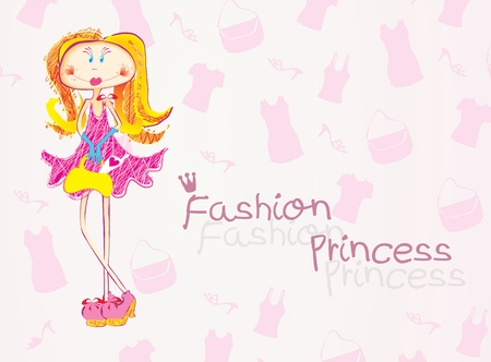 Fashion princess Vector