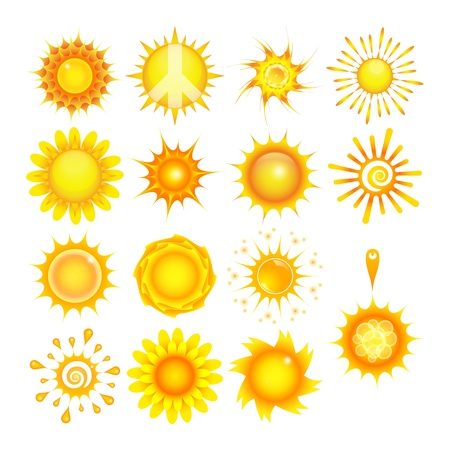 Suns collection Stock Vector - 10797852