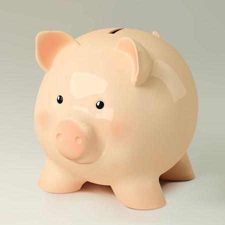 Vector pig-bank illustration
