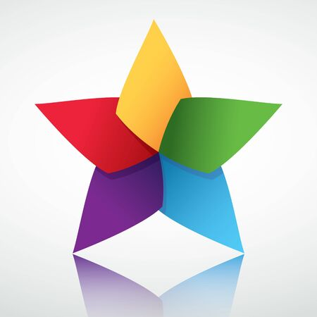Colorful star symbol Stock Vector - 10797845
