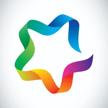 estrellas moradas: Cinta de colores